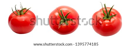 Set of tomatoes on a white background. Isolate #1395774185