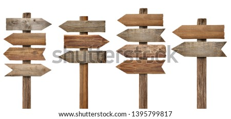 collection of various wooden sign on white background #1395799817
