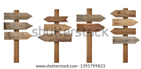 collection of various wooden sign on white background #1395799823
