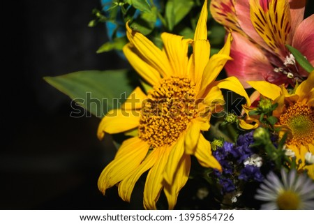 bouquet of african daisy and alstroemeria #1395854726