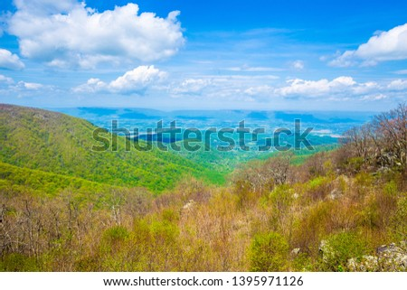 Endless view of mountains. Beautiful nature in Tennesse. USA.  #1395971126
