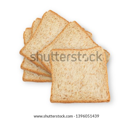 Whole wheat bread is a kind of bread made from flour that is partially or completely crushed from whole or almost whole grains, whole wheat flour and cereal. Is a kind of brown bread #1396051439