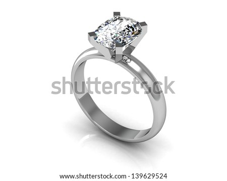 The beauty wedding ring  (high resolution 3D image) #139629524