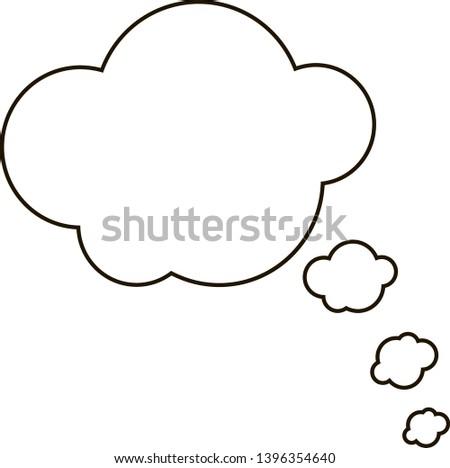 Speech bubbles thin line icon #1396354640