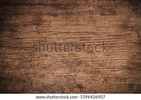 Old grunge dark textured wooden background,The surface of the old brown wood texture,top view brown wood paneling #1396426907