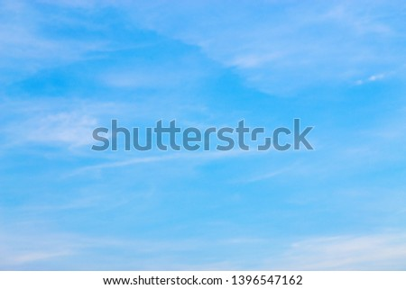 Air clouds in the blue sky. #1396547162