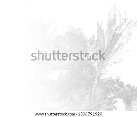 Grayscale abstract fractal background. Faded page side. #1396791920