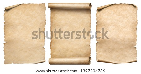 Vintage paper or parchments set isolated on white #1397206736