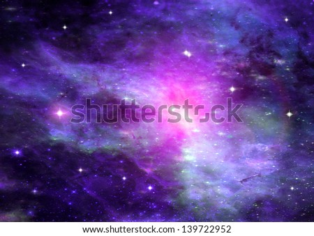 Stars of a planet and galaxy in a free space #139722952