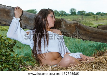 Young beauty on the farm #139726585