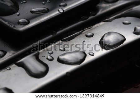 detailed texture abstract droplets on the steel #1397314649