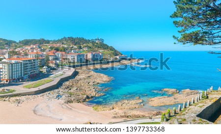 Beautiful village of Bayona (Baiona) in Galicia, north of Spain #1397733368