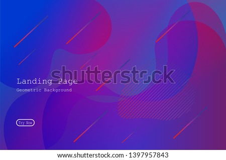 Colorful geometric background with Fluid and liquid shapes composition. Eps10  #1397957843