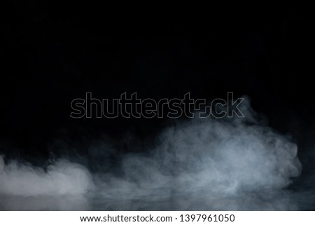 Abstract Smoke on black Background #1397961050