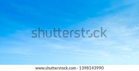 Blue sky with white clouds background. #1398143990