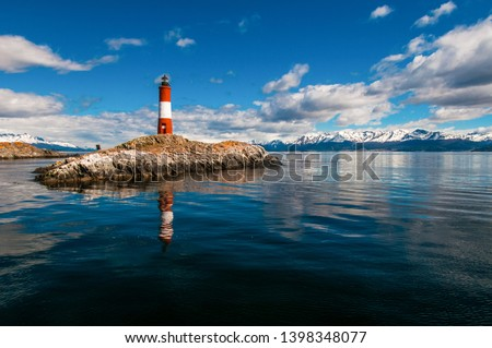 Lighthouse from the end of the world Ushuaia, Tierra del Fuego - Patagonia Argentina Royalty-Free Stock Photo #1398348077