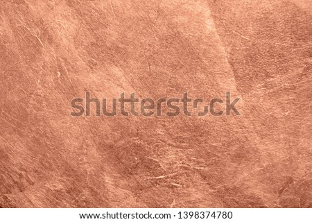 Abstract brushed copper surface metallic texture. Retro background #1398374780