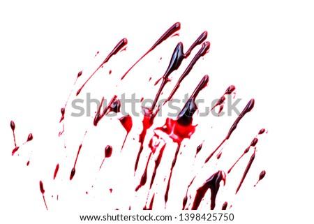 blood splatters on white background #1398425750