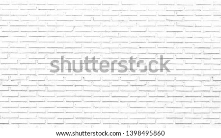 White brick wall texture background #1398495860