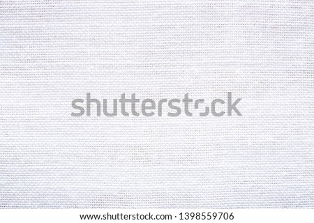 Close up white Chinese linen fabric texture background #1398559706