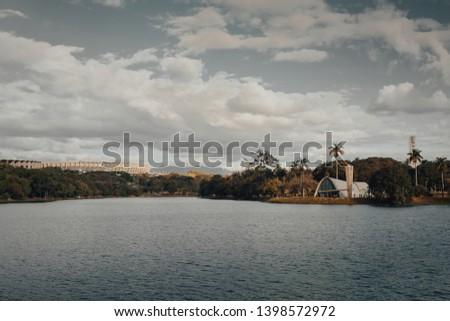 Belo Horizonte, Minas Gerais, Brazil. View of Pampulha Lake during the day. #1398572972