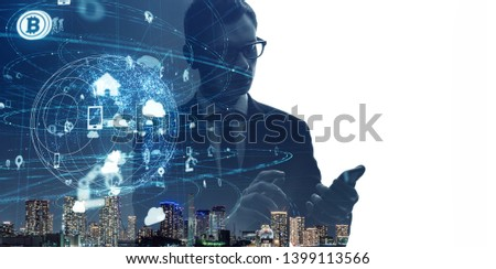 Communication network concept. IoT (Internet of Things) #1399113566