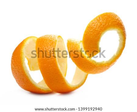 Orange peel isolated on white background #1399192940