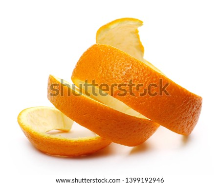 Orange peel isolated on white background #1399192946