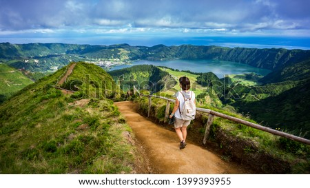 Arriving to the Viewpoint over Lagoa das Sete Cidades - Azores #1399393955