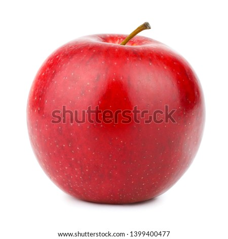 Fresh red apple isolated on white background #1399400477