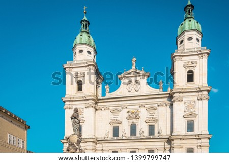 The historic athedral of Salzburg on a sunny day #1399799747