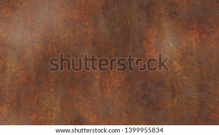 old rusty corroded metal plate #1399955834