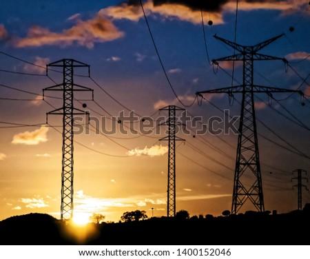 High Voltage Electric Transmission Tower Energy Pylon #1400152046
