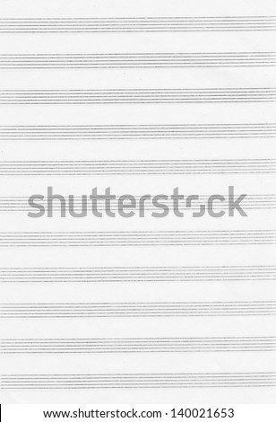 Paper for musical notes