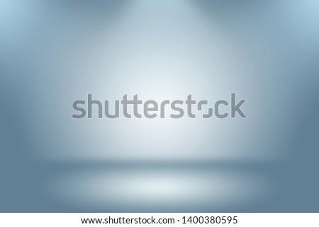 Abstract Luxury gradient Blue background. Smooth Dark blue with Black vignette Studio Banner. #1400380595