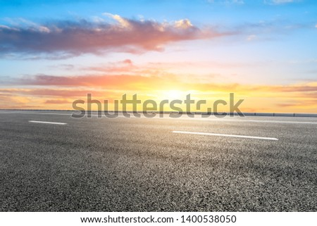 Empty road and sky nature landscape #1400538050