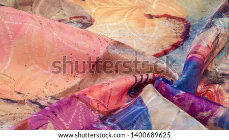 texture, background, pattern, wallpaper, postcard, poster, silk fabric with a painted artist's palette, bright colors, colors, unrestrained imagination - this is what you need for your  projects #1400689625