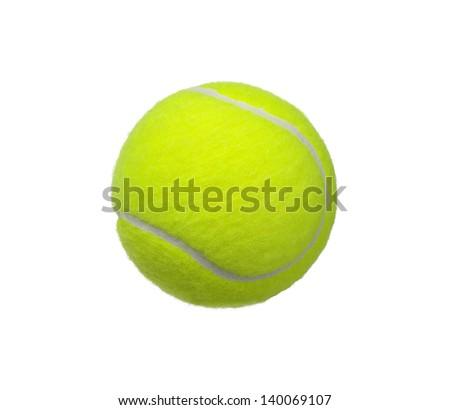 tennis ball isolated on white background #140069107