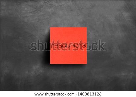 Sticky note on blackboard, Resolutions #1400813126