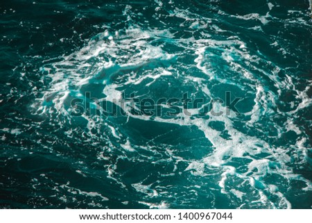Ocean views. Blue water background #1400967044