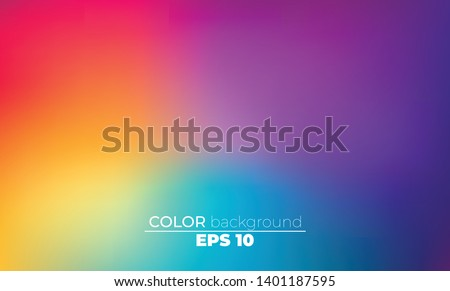 Abstract blurred gradient mesh background in bright Colorful smooth. Easy editable soft colored vector illustration, Suitable For Wallpaper, Banner, Background, Card, Book Illustration, landing page Royalty-Free Stock Photo #1401187595