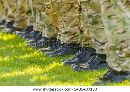 Soldiers from  on parade in Belfast #1401400130
