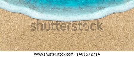Sea wave on beach sand #1401572714