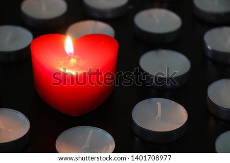 Candle in form of heart  #1401708977