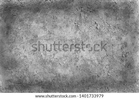 old gray wall / abstract vintage gray background, texture old concrete, plaster crack #1401733979