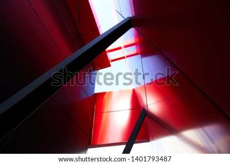 Abstract modern architecture background design. Urban geometric structure #1401793487