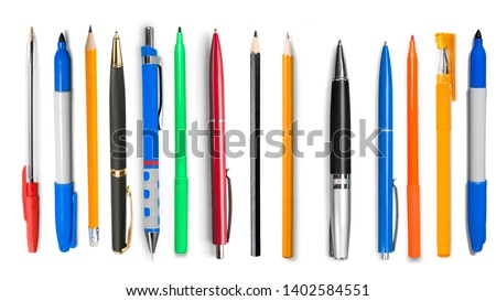 Assortment of various Chancery isolated on white Royalty-Free Stock Photo #1402584551