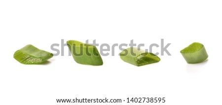chopped green onions isolate on white #1402738595
