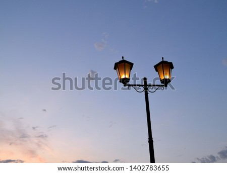 Beautiful lantern at sunset pleasing the eye #1402783655