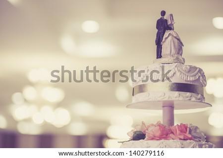 Vintage Wedding Cake Royalty-Free Stock Photo #140279116